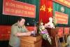 Ông Lê Hồng Hà - Phó CCT - thông qua báo cáo tổng kết.