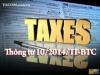 Thông tư số 10/2014/TT-BTC hướng dẫn xử phạt vi phạm hành chính về hóa đơn.